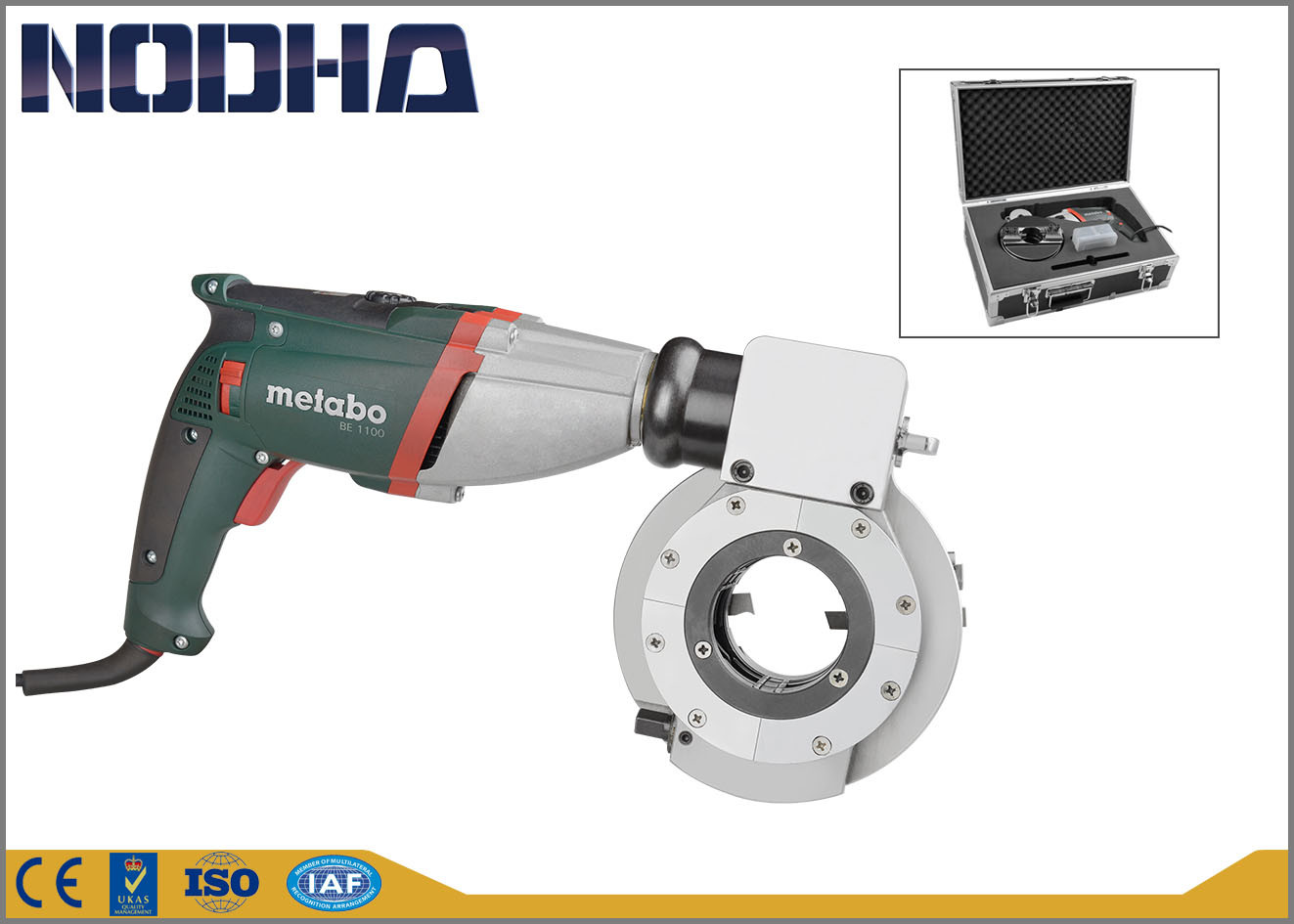 Low Noise Electric Pipe Cutter , Pipe Cold Cutting Tools Long Life